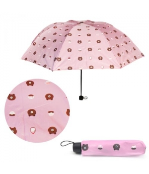 """Детский зонтик складной """"Мишутки"""", розовый UM5672"""