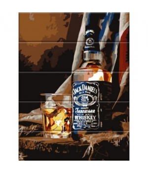 "Картина по номерам на дереве ""Виски"" ASW076 40х30 см"