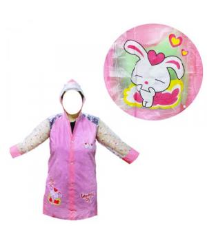 Детский водонепроницаемый плащ-дождевик розовый BT-CR-0004