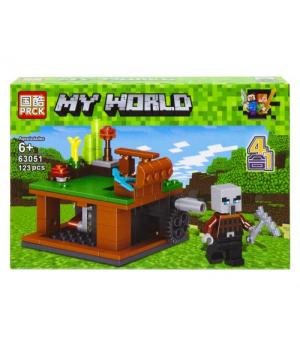 """Детский конструктор """"Minecraft - Майнкрафт - Майнкрафт. Военная база"""", 123 дет 63051"""