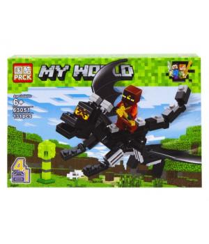 """Конструктор """"Minecraft. Полет на драконе"""", 131 дет 63051"""