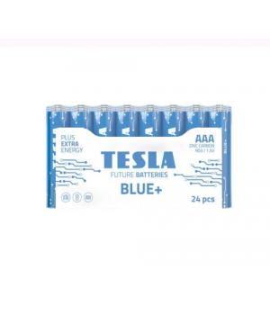 [AAA BLUE+ 24M] Первинні елементи вугульно-цинкові з напругою 1,5В TESLA BATTERIES AAА BLUE+ 24 MULTIPACK ( R06 / SHRINK 24 шт.)