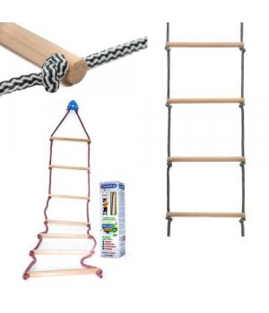 Лестница детская подвесная, канатная, до 50 кг