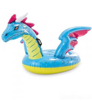 Детский плот надувний дракон 201*191см, Intex