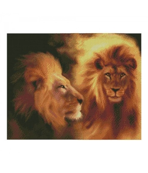 """Алмазная мозаика """"Величественный лев"""" FA11358 40х50 см"""