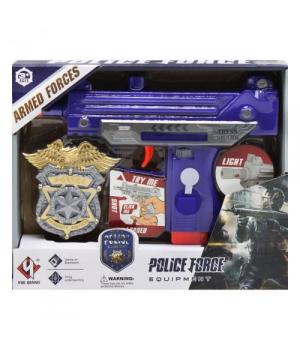 Набор полицейского для детей, с УЗИ пистолет-пулемет,  свет, звук