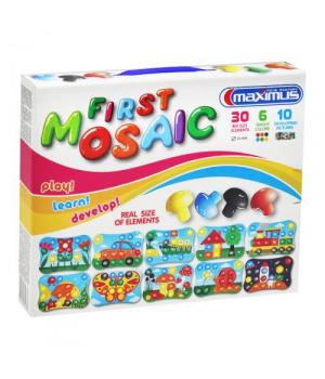 Мозаика для малышей, 30 больших фишек, 10 картинок