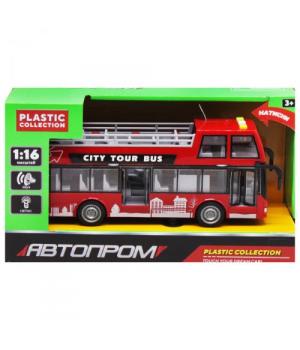 """Автобус двухэтажный игрушка """"Автосвіт"""", красный 7952AB"""
