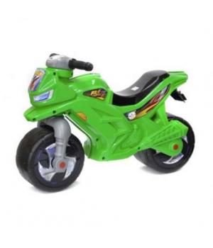 Детский мотоцикл толокар зеленый, Орион