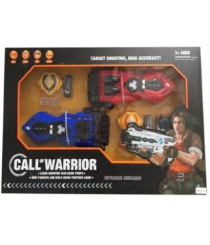 """Детское лазерное оружие для двоих с мишенью """"CALL of WARRIOR"""" 151111-C"""