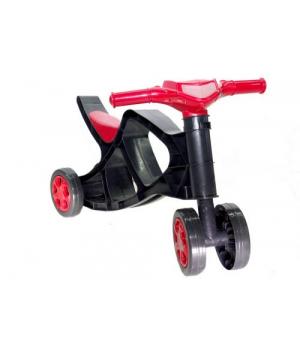 Детская каталка беговел «Минибайк» (чёрно-красный), Doloni Toys