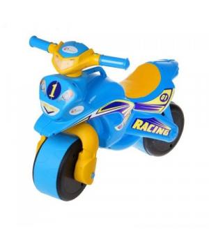 "Каталка мотоцикл беговел ""Байк Спорт"" (голубой), Doloni Toys"