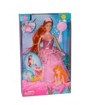 Кукла русалка с ногами Defa (в розовом) 8188