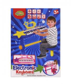 """Игрушка пианино со стульчиком и микрофоном """"Electronic Keyboard"""" MTK007"""