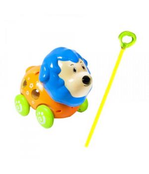 Каталка музыкальная с ручкой, (свет, звук) Лев