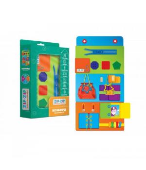 Настенная игрушка с застежками бизиборд, (укр), ZZ1000-01