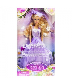 """Игрушка Кукла невеста """"Defa Lucy"""" (в фиолетовом платье) 8065"""