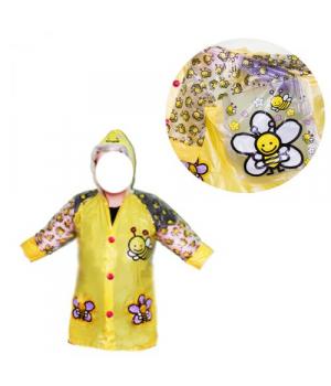 Детский водонепроницаемый плащ-дождевик желтый BT-CR-0004