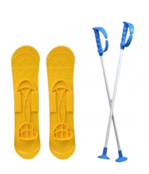 """Детские лыжи """"SKI BIG FOOT"""" (желтые) 6586"""