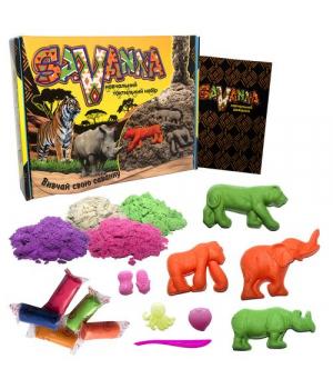 """Кинетический песок и тесто для лепки набор для творчества  """"Savanna"""" 51204"""
