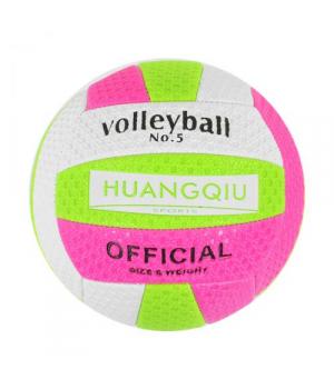 """Мяч Волейбольный """"HUANGQIU"""" (бело-розовый) C40094"""