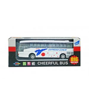 Детский автобус игрушка, инерционный , 14 см, свет, звук
