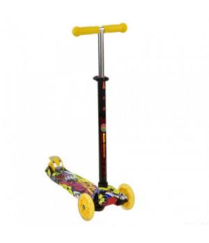 Детский желтый самокат трехколесный, Best Scooter