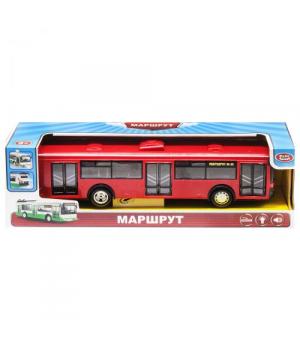 "Автобус ""Маршрут"" свет,звук (красный)"