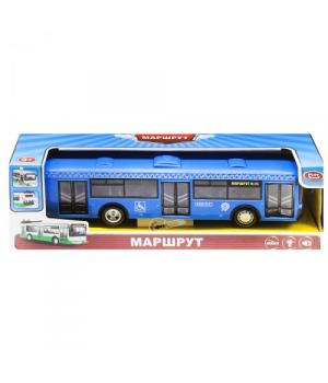 "Автобус ""Маршрут"" свет,звук (синий)"