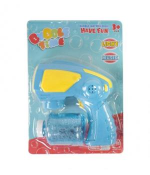 Пистолет с мыльными пузырями (голубой) 652