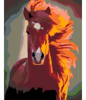 "Картина по номерам Лошадь ""Красавчик"" ★★☆ N00013384 35х45 см"