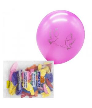 Набор воздушных шариков с шелкографией, 50 штук 20364