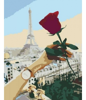 "Картина по номерам ""Роза"" ★★☆ N00013350 35х45 см"