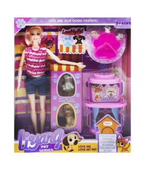 """Кукольный набор кукла с собачками """"Love my Pet"""" LY 520 D"""