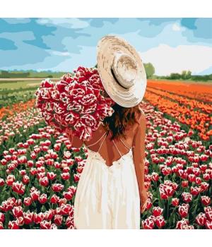 """Картина по номерам """"Охапка тюльпанов"""" ★★★★★ КНО4725"""