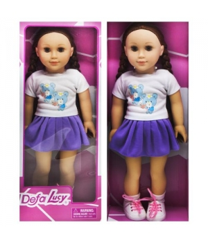 """Большая детская кукла брюнетка """"DEFA"""" фиолетовый 5510"""