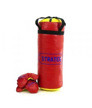 Боксерская груша для детей, подвесная, 55 см, 4 кг (с перчатками)