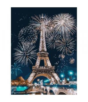 """Картина по номерам """"Огни Парижа"""" ★★★★ КНО3572 40х30 см"""