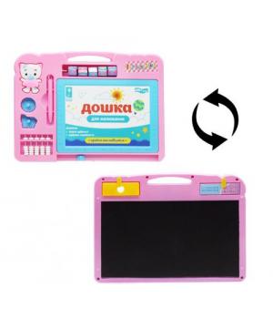 """Детская доска для рисования """"Smart Board"""", розовый PL-7018"""