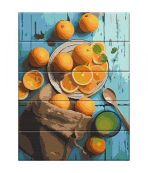 """Картина по номерам на дереве """"Апельсины"""" ASW119 40х30 см"""