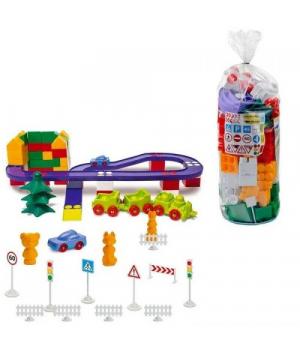 Конструктор Автотрек пластиковый, №6, 130 деталей 1-216