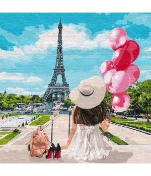 """Картина по номерам """"Гуляя по улицам Парижа"""" ★★★★★ КНО4756"""