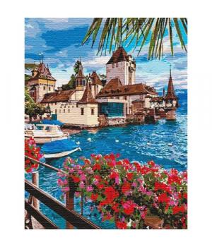 """Картина по номерам """"Волшебная Швейцария (big)"""" ★★★★★ КНО12253 50х65 см"""