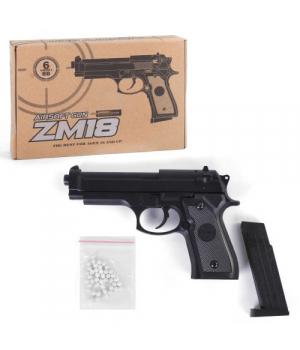 Игрушечный пистолет ZM18 на пульках, металлический, Airsoft Gun, CYMA