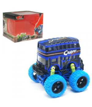 Автобус двухэтажный игрушка, с большими колесами Монстр Бус