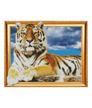 "Алмазная мозаика ""Гордый тигр"" FT30055 40х50 см"