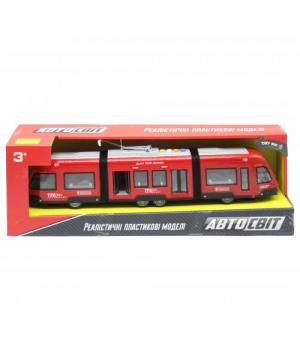 """Трамвай детский игрушка  """"Автосвіт"""", красный AS-2630"""