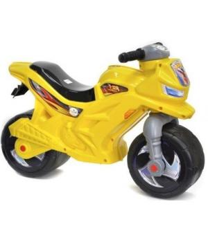 Детский мотоцикл толокар лимонный, Орион