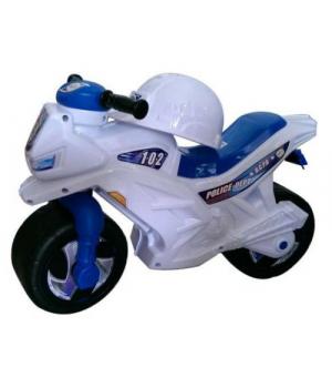 Детский мотоцикл толокар Полицейский, с каской, Орион