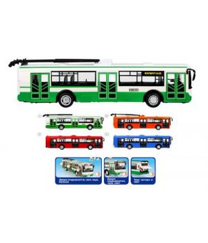 """Троллейбус из серии """"Автопром"""" (зеленый) 9690-A"""